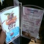 menu acrilik